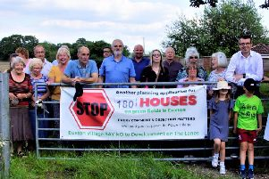 Some of the campaign group at the site