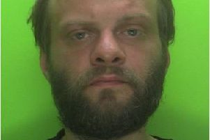 Pictured is Paul Wells, 35, of no fixed address, who was sentenced to five months in prison after he assaulted two emergency workers, according to police.