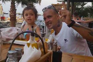 Ste Unett with his daughter Isla