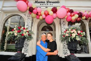 Mum and daughter owners Justine and Jessica Wyatt at the new Mama Doreen's in Harrogate. (Picture by Gerard Binks)