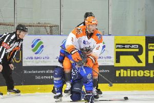 RESTING UP: Aaron Brocklehurst is likely to sit out the Challenge Cup double-header against Nottingham Panthers this weekend. Picture: Dean Woolley.