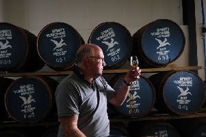 Yorkshire first single malt whisky, Filey bay, is launched today. Owner Tom Mellor is pictured in the distillery at Humanby Picture by Simon Hulme