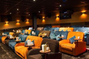 The interior of the cinema will be very similar to this but the colour scheme will be unveiled on Friday