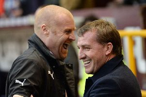 Burnley boss Sean Dyche and Brendan Rodgers