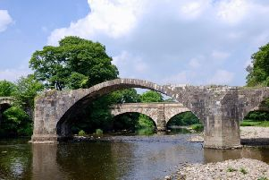 Cromwell's Bridge on the River Hodder is one of the photos featured in the calendar