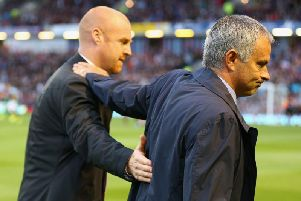 Burnley boss Sean Dyche with Jose Mourinho