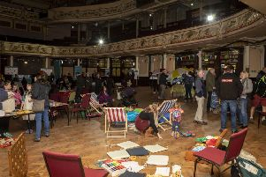 The Eden Project North community consultation event at the Morecambe Winter Gardens.Image by Nick Dagger Photography.