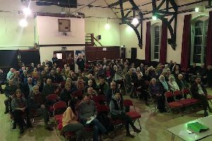 Local residents attend the meeting (picture by Sue Hind)
