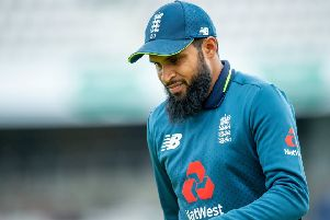 Adil Rashid playing for England at headingley last year (Picture: SWPix.com)