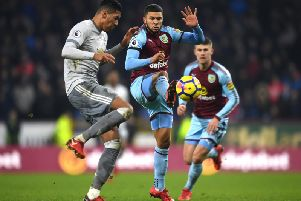 Nahki Wells in action against Manchester United