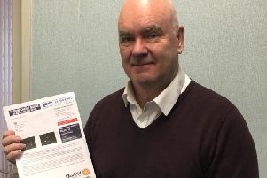 Nigel Worswick with his fine letter
