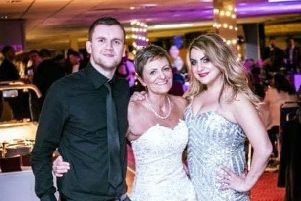 Karen Archer, who died last year at the age of 61 after a five year cancer  battle, with her son and daughter Wayne and Vickie.