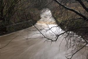 This image of Green Brook rising in Lowerhouse, Burnley, was captured this afternoon by Ian Moore.