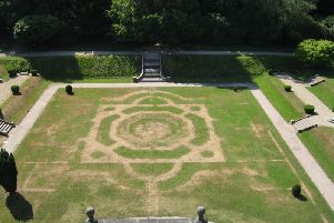 The 'Ghost Garden' at Gawthorpe Hall (Photos: Lancashire County Council)