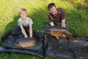 Alfie Drummond and proud dad Rob with two stunning 'Knotford Twenties'.