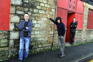From left, Mick Armistead, David Blackwell and Ian Dicken outside Lancaster Music Co-op