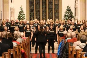 Clitheroe Pop Choir performed at the fundraiser.