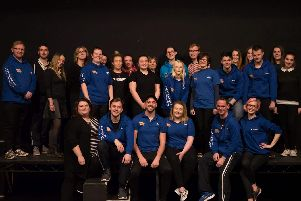 The cast of Our House, a Madness-themed musical which is coming the Pendle Hippodrome Theatre in March. (s)