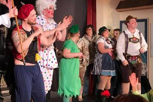 TEAM RISE cast members take a bow after making their pantomime debut
