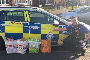 Police donated food items