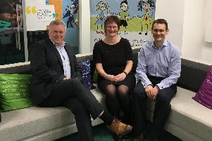 From left to right: Paul Moffatt, Chief Executive, Doncaster Childrens Services Trust; Barbara Murray, Children and Adult Mental Health Services Manager, Rotherham, Doncaster and South Humber NHS Foundation Trust and Dr David Crichton, Clinical Chair, NHS Doncaster Clinical Commissioning Group