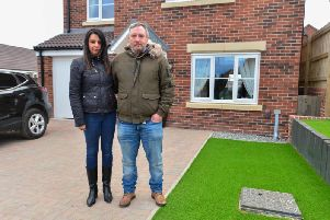 Nicola Bentley, 46, and husband Phil, 48, claim that, despite complaining about the faults ten months ago, only 10 per cent of them have been fixed. Photo: SWNS
