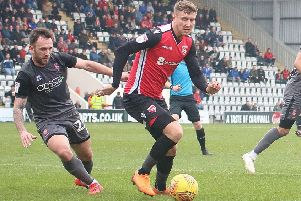 Morecambe striker Richie Bennett