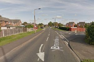 Two cars were involved in a collision on Broomhouse Lane, Balby, this morning