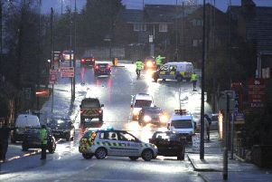 The scene following the shooting in Ashton