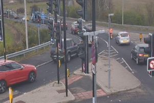 Traffic heading towards Nissan on Downhill Lane in Sunderland, as show via the @NELiveTraffic camera network.