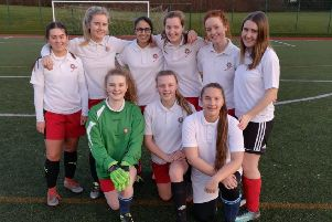 The Under 15s girls' football team