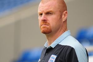 Sean Dyche with England Under 21s in October 2012