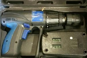 This drill was among the items stolen