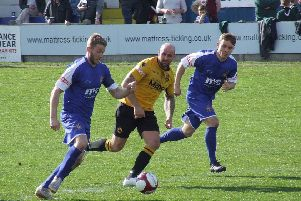Action from Shawbridge where Clitheroe were beaten 2-1 by Prescot Cables