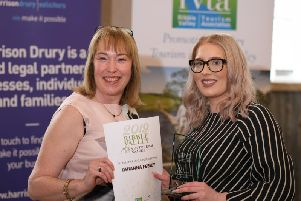 Amanda Dowson, chair of the Ribble Valley Tourism Association and Rhianna Feeney, senior receptionist at Stanley House'Photo by Martin Bostock