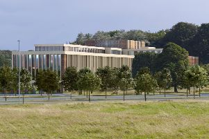 An artist impression of the exterior of the new Health Innovation Campus.