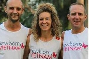 From left to right, Rob West with Marieke Dekkers and Grant Bowdery.