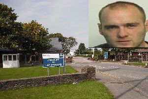 HMP Kirkham is an open prison where prisoners are free to leave during set hours. Thomas Parkinson (inset) had been serving a life sentence for murder after stabbing to death a 23-year-old man a house party in Preston.