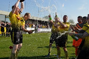 Hucknall Town celebrate the title two weeks ago. Can they complete the double this weekend?