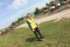 Simon Hore, chairman of the community services committee on RVBC, at the site of the Edisford Sports Complex.
