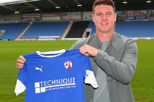 Anthony Gerrard returned to the Proact today to become a Spireite (Pic: Tina Jenner)