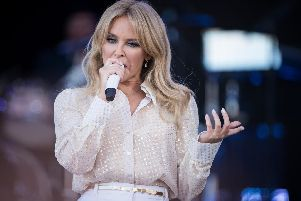 Kylie Minogue delights the crowds in Legends' Slot on Pyramid Stage at Glastonbury