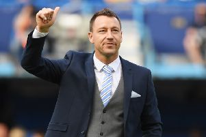 John Terry - a helping hand offered to John Dempster if needed.