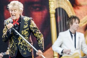 Rod Stewart performed at Lytham Festival