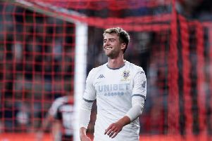 Leeds United striker Patrick Bamford in action in Sydney. (Getty)