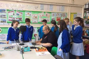 Pupils at St James School, Clitheroe, are staging a junior version of The Apprentice with Lee Roe, Ribble FM station manager.