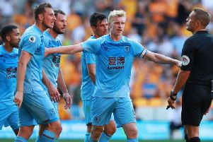 Burnley skipper Ben Mee during the 1-1 draw against Wolves at Molineux