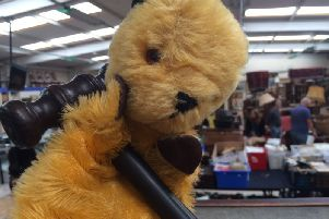"""An original Sooty puppet which had been """"sitting in a box for 40 years"""" is up for auction at Hansons Auctioneers in Derbyshire on Thursday."""