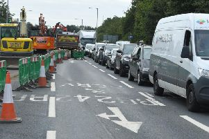 Traffic chaos in Bluebell Way