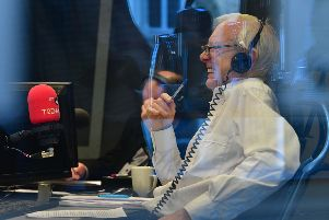 John Humphrys on his last morning on the Today programme. Picture: BBC